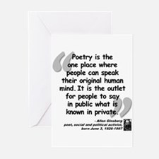 Ginsberg People Quote Greeting Cards (Pk of 20)