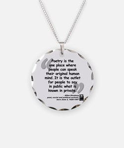 Ginsberg People Quote Necklace