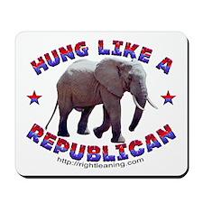 """Hung Like a Republican"" Mousepad"