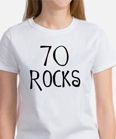 70th birthday saying, 70 rocks! Tee