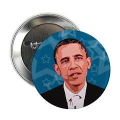 Obama Stars Campaign Button
