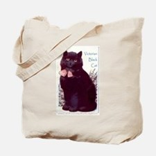 """Purrfectly"" Black Cat and Kittens Tote Bag"