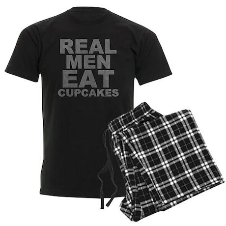 Real Men Eat Cupcakes Men's Dark Pajamas