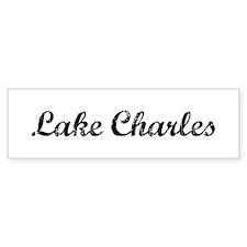 Vintage Lake Charles Bumper Bumper Sticker