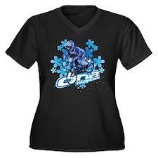 Makia Women's Plus Size V-Neck Dark T-Shirt