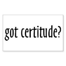 Got Certitide - Decal