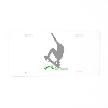 Gravity Wear - Skate Boarding Aluminum License Pla