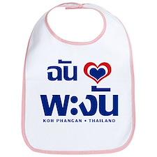 I Love (Heart) Koh Phangan, Thailand Bib