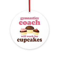 Funny Gymnastics Coach Ornament (Round)