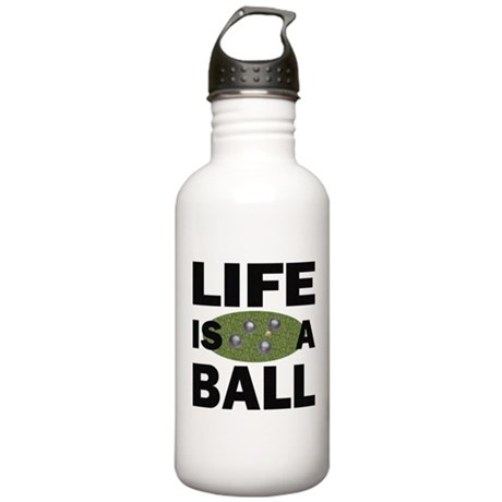 Life Is A Ball Bocce Stainless Water Bottle 1.0L