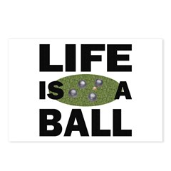 Life Is A Ball Bocce Postcards (Package of 8)