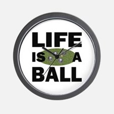 Life Is A Ball Bocce Wall Clock
