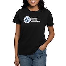 TSA new logo - women's dark tee