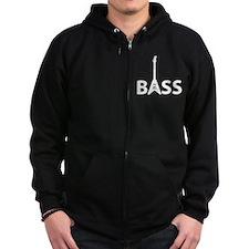 Unique Rock roll bass player Zip Hoodie