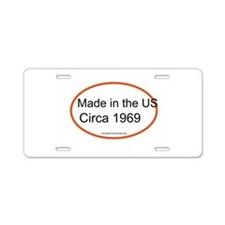 Made in the USA Circa 1969 Aluminum License Plate