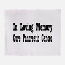 Funny Pancreatic cancer Throw Blanket