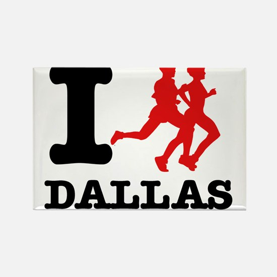 I run Dallas Rectangle Magnet