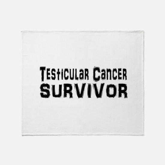 Unique Testicular cancer Throw Blanket
