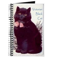 Victorian Purrfectly Black Kitten Journal