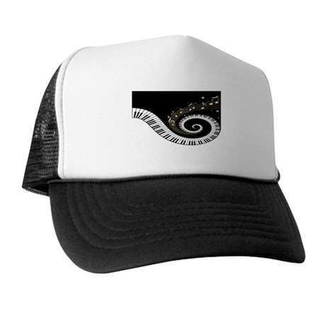 Mixed Musical Notes (black go Trucker Hat
