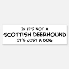 If it's not a Scottish Deerho Bumper Bumper Bumper Sticker