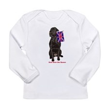lab with British flag Long Sleeve Infant T-Shirt