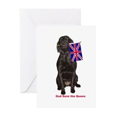 lab with British flag Greeting Card