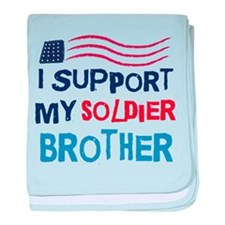 Soldier Brother Support baby blanket