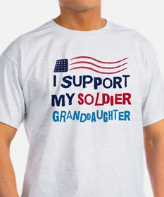 Soldier Granddaughter Support T-Shirt