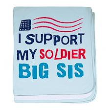 Soldier Big Sister Support baby blanket