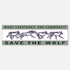 Wolf Conservation Bumper Bumper Bumper Sticker