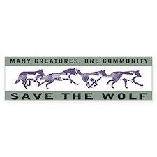 Wolf Conservation Bumper Car Sticker
