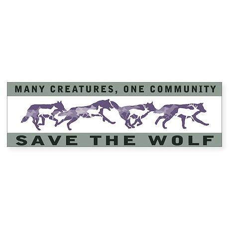 Wolf Conservation Bumper Sticker