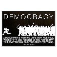 Democracy Jefferson Large Poster