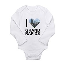 I Heart Grand Rapids Long Sleeve Infant Bodysuit