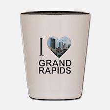 I Heart Grand Rapids Shot Glass