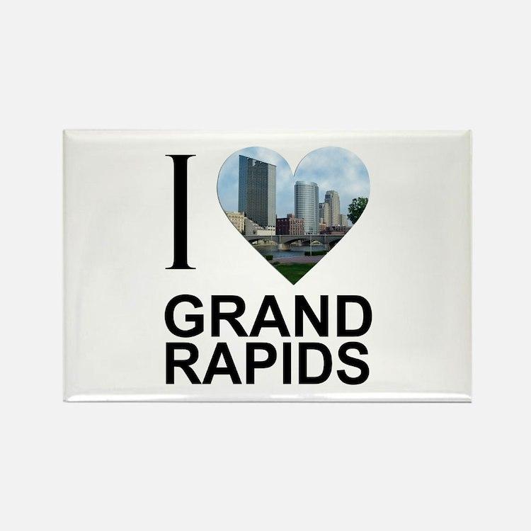 I Heart Grand Rapids Rectangle Magnet
