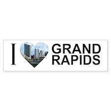 I Heart Grand Rapids Bumper Sticker
