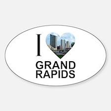 I Heart Grand Rapids Sticker (Oval)