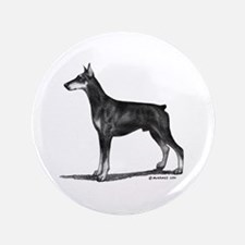 "Doberman 3.5"" Button"