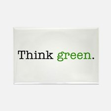 """""""Think Green"""" Rectangle Magnet"""