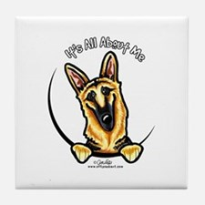 German Shepherd IAAM Tile Coaster