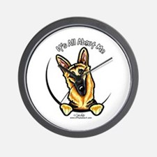 German Shepherd IAAM Wall Clock