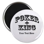 Customizable Poker King Magnet