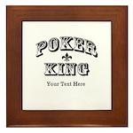 Customizable Poker King Framed Tile