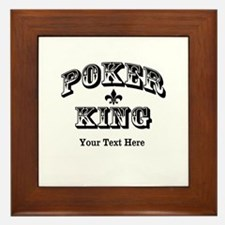 Customizable Poker King Framed Tile