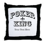 Customizable Poker King Throw Pillow