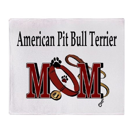 American Pitbull Terrier Throw Blanket