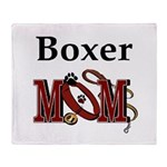Boxer Dog Mom Gifts Throw Blanket