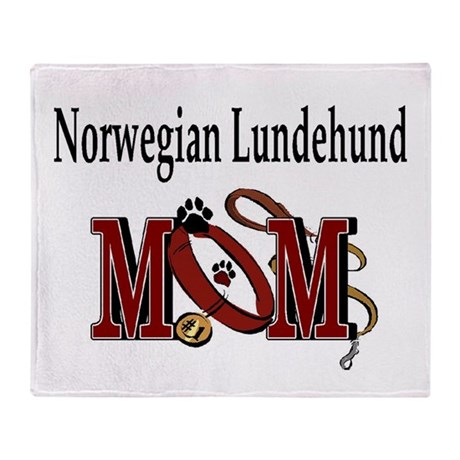 Norwegian Lundehund Throw Blanket
